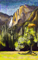 A tree in the moutains by gamer684