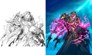 Hearthstone - Cult Sorcerer line art to color by Tonywash