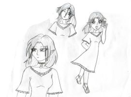 Chiaki sketches by LinksLove