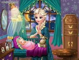 Elsa and her baby. by Smurfette123