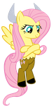 Fluttershy: The Monster by Bronyboy