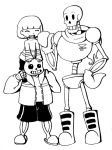 Undertale Trio: Frisk, Sans and Papyrus by Chiherah