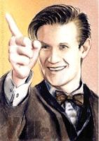 Matt Smith mini-portrait by whu-wei