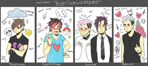 High School Meme: Rawdi-kun by rawdi-kun