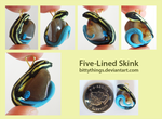 Five-Lined Skink Stone Pendant by Bittythings