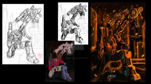 Transformers Sketch work by Fahad-Naeem