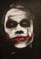 The Joker BW by piratebutl23