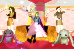 [MMDxCrossover] - The Queen's Court by Hebigami-Okami-77