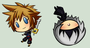 Sora and Riku by SweetUndine