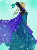 Elsa The Queen of Snow by Ramylie-Douglas