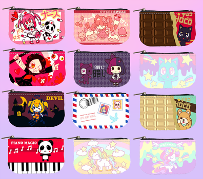 Cute coin purses for sell by Mafer