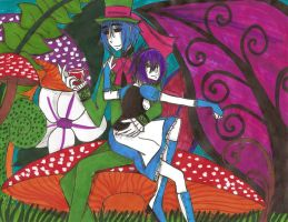 2-D and Noodle In Wonderland by HarukoAkatsuki
