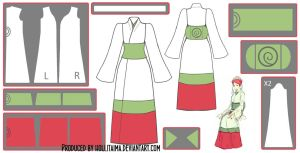 Mito Uzumaki Kimono Cosplay Design Draft by Hollitaima