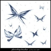 Fractal Buterflies Brushes by luci-ette