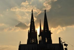 sunset and church by Kitty-Kitty-Kit-Kat