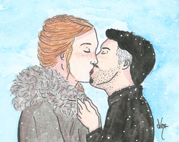 Baelish and Sansa kiss by nanabarbare