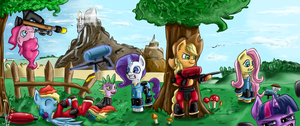 Paintball mane 6 by 1Vladislav