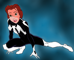 Belle's Symbiote V White by DeathStrokeAC