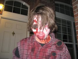 My Zombie Costume Close Up by THE-R4GE