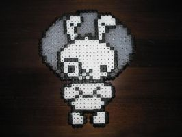 Perler Space Rabbit by Tanukitsune1