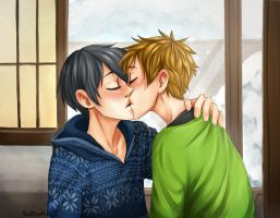 Winter kiss by PointlessMu