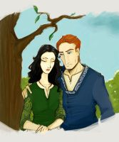Sorcha and Iubdan by marie-moores