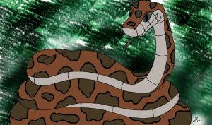 Kaa the Female Python Painted by lol20