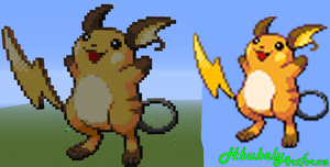 Raichu - Minecraft Art by HbubelyArtForms