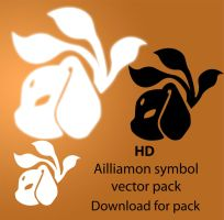 Ailiamon Symbol Vector Pack by kaiomutaru25