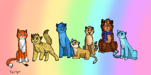 Ginger and the gang chibis by GingerFlight