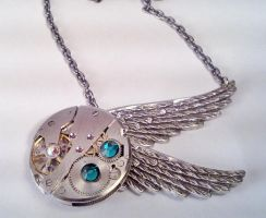 Dancing Wing Necklace by SteamDesigns