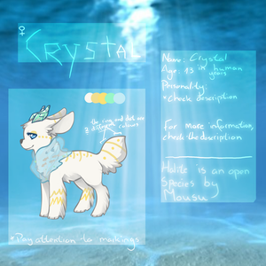 - Crystal the Halite by FoxStarrMoon