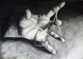 AP Drawing Hand Stretching Pencil by wideturn