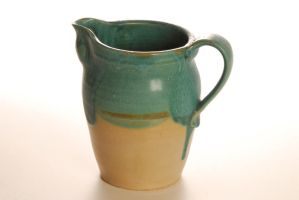 turquoise dream Pitcher by Recycled-Oxygen