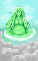 Big Slime Girl takes on City, more at 7 by alpaca-goddess