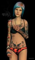 Chloe with a bit more ink, rendered version. by Abbeysisland