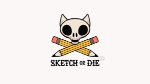 Sketch or Die Desktop by paperbeatsscissors
