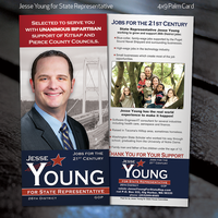 Jesse Young for State Representative Palm Card by fireproofgfx