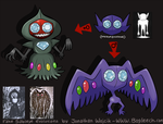 Sableye Evolutions by scythemantis