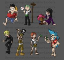 One Piece Keychains Complete by JimmyRay