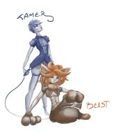 Tamer and Beast by Terra-TOI