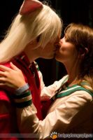 InuYasha and Kagome First Kiss by SerenityPhoenix