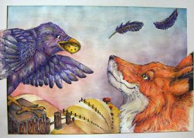 The Fox and The Crow by Cailey5586