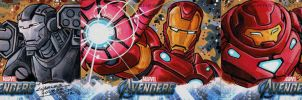 Avengers sketch cards Iron Man by KidNotorious