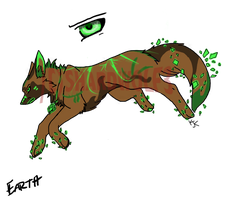 Earth Shard Wolf Adopt (CLOSED) by ShardWolf3