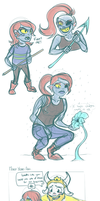 Undertale: Undyne? more like fun-dyne am i right? by CaptainClovey