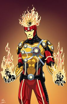 Firestorm (Earth-27) commission by phil-cho