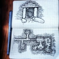 Tomb doorway and map by billiambabble