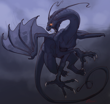Sketch Commission:. Jabberwocky by Remarin