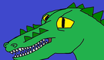 Leatherhead Headshot(2003 version) by Trextyrano